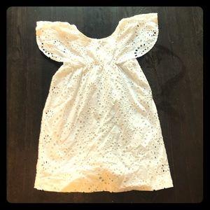 Zara Girl's white eyelet dress